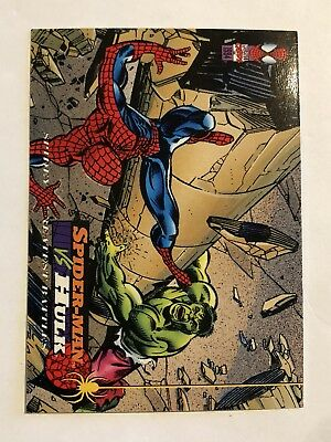 Spider-Man Fleer Marvel Greatest Team-ups Card #107 Hulk