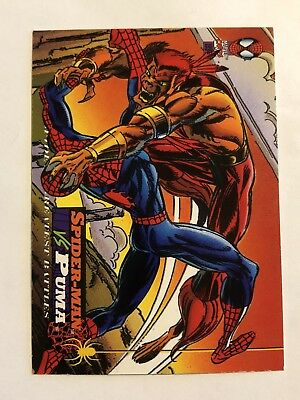 Spider-Man Fleer Marvel Greatest Team-ups Card #114 Puma