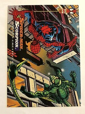 Spider-Man Fleer Marvel Greatest Team-ups Card #118 Scorpion