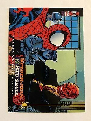 Spider-Man Fleer Marvel Greatest Team-ups Card #119 Red Skull