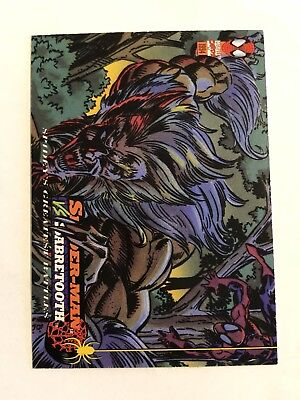 Spider-Man Fleer Marvel Greatest Team-ups Card #120 Sabretooth