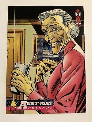 Spider-Man Fleer Marvel Card #125 Aunt May