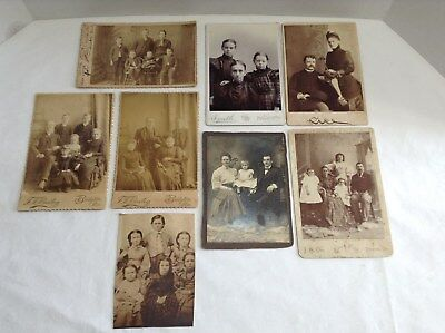 Lot of 8 Victorian Family  Photographs/portraits