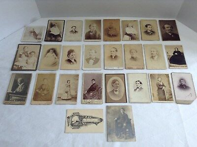 Lot of 26  Victorian Assorted Photographs/portraits Cabinet Photos
