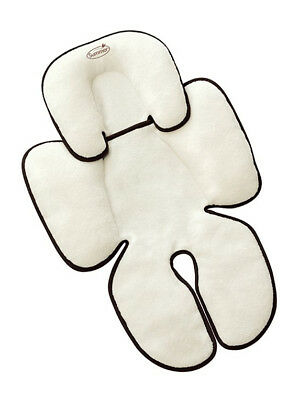 Infant Support for Car Seat and Strollers Black Ivory w/Head Support Snuggler