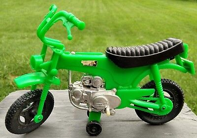 "8"" Green HONDA CT TRAIL 70 Mini BIKE MOTORCYCLE Vintage Processed Plastic Toy"
