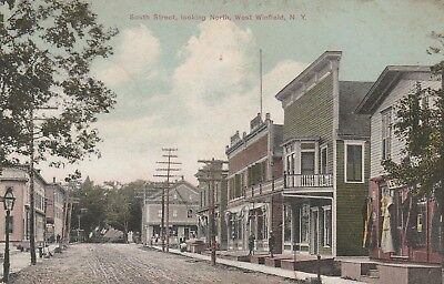 South Street looking North West Winfield NY 1908