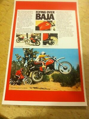 Vintage 1976 Honda Mr250 Elsinore Dirtbike Advertisement  Cave Home Decor Gift