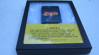 Dakota Cigarettes hard pack from 1990 from RJ Reynolds in case