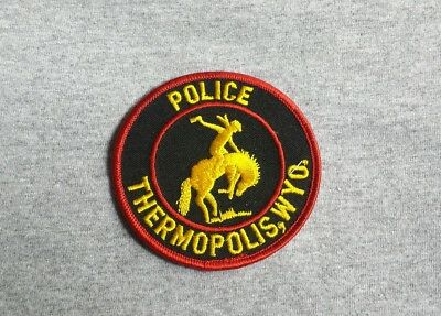 Thermopolis Wyoming Police Shoulder Patch