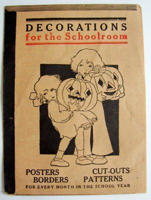 """Vintage Book Order Form """"Decorations for the Schoolroom"""" Halloween Theme"""
