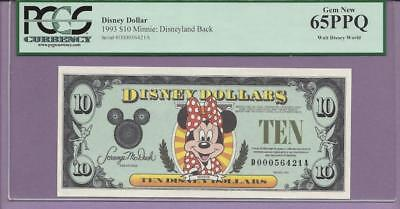 "1993 $10 D ""MINNIE""  Disney Dollar PCGS PPQ"" GEM  ""SCROLL DOWN FOR SCANS"""
