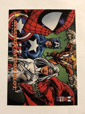 Spider-Man Fleer 1994 Marvel Card #140 Assassination Plot