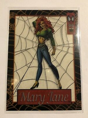 Spider-Man Suspended Animation Fleer 1994 Marvel Card #2 Mary Jane