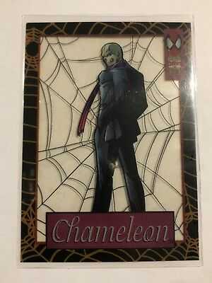 Spider-Man Suspended Animation Fleer 1994 Marvel Card #3 Chameleon