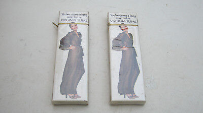 2 Vintage Virginia Slims Sample Cigarettes Unopened Hard Pack Collectible Only