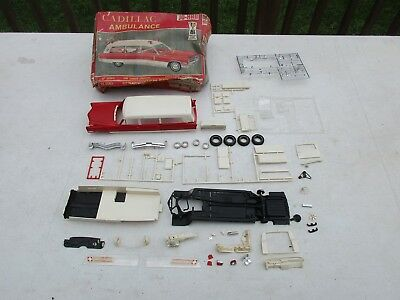 JOHAN GC-500 CADILLAC AMBULANCE FIRE RESCUE Hearse Toy Model Car Lot