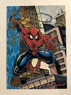 Marvel Fleer Spider-Man Card #130 Spider-Man