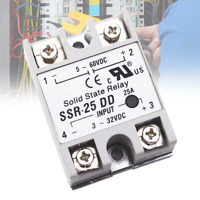 Plastic Single Phase Solid State Module Relay SSR DC-DC 25A 3-32V DC/5-60V DC