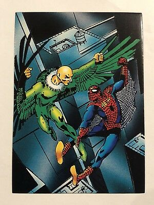 1992 Marvel Spider-Man 30th Anniversary Card #21 Duel To The Death