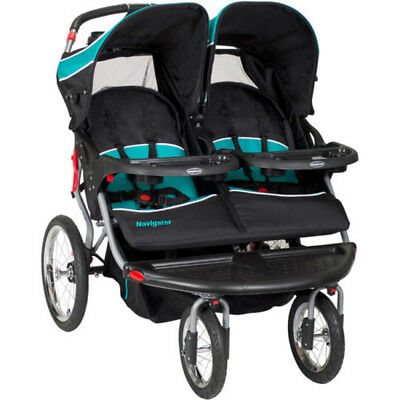 Baby Trend Navigator Double Jogger Stroller Twin Jogger MP3 Speakers, Tropic