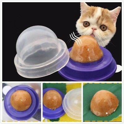 2X Cat Snack Catnip Candy Licking Solid Nutrition Energy Ball Help Digestion WS