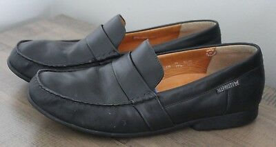 Men Mephisto Cool-Air black leather loafers/shoes, sz EUR 11/US 11.5