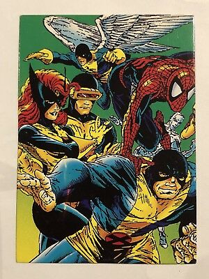 1992 Marvel Spider-Man 30th Anniversary Card #47 The X-men