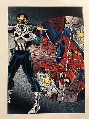 1992 Marvel Spider-Man 30th Anniversary Card #58 The Punisher