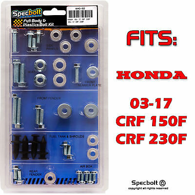 Honda CRF-F Plastics Body Bolt Kit CRF150F CRF230F 2003-2017 #KHO-02-1