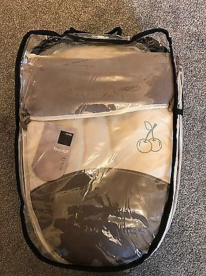 BNIB ICandy Cherry Fudge 2 Tone Beige Footmuff, Apple 2 Pear, Peach, Strawberry