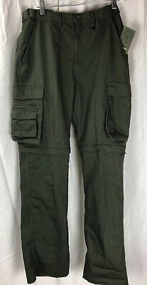 Boy Scouts of America Canvas Zip-Off Uniform Convertible Pants Mens Sz 33 NWT