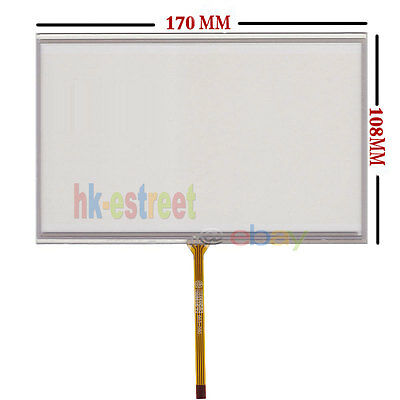 """7.4inch 7.4"""" 4 Wire Resistive Touch screen Digitizer glass For Car DVD 170*108mm"""