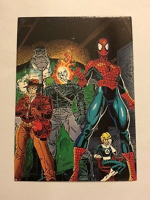 1992 Marvel Spider-Man 30th Anniversary Card #83 Heroes