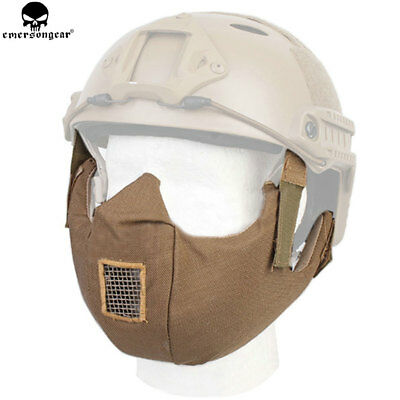 EMERSON Tactical Airsoft Half Face Guard Protective Mask Wargame Paitball Gear