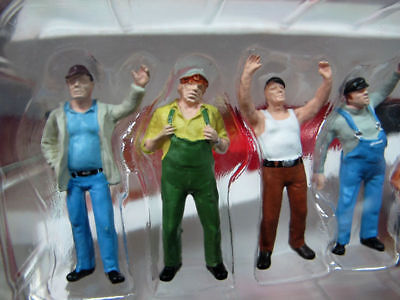 1:50 Scale Male Yellow Color Construction Worker Model 6PCS F Engineering Car