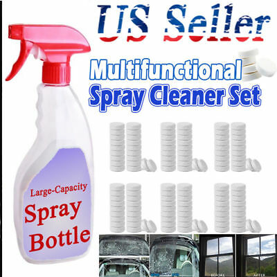 100 Multifunctional Effervescent Spray Cleaner Tablets  Strong Cleaning Tool kd