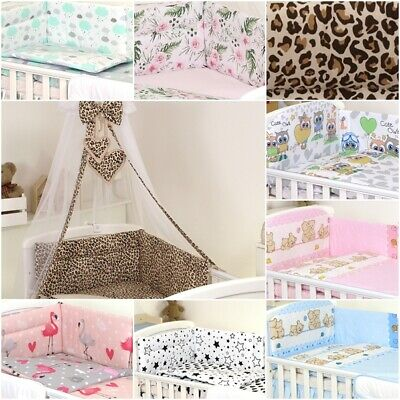 COT BEDDING SET -3 PCS,6,11, Boys, Girls, ORGANISER, BUMPER, CANOPY -100%COTTON