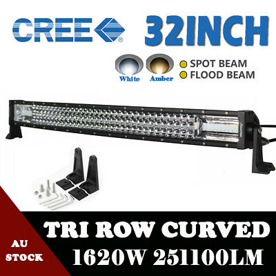 32inch 1620W Curved LED Work Light Bar Flood Spot Combo Offroad Truck Boat VS 31