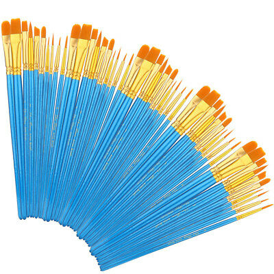 80pcs Artist Paint Brushes Fine Paint Brush for Acrylic Watercolor Oil Painting