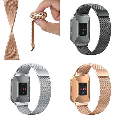 Milanese Loop For fitbit ionic band smart watch strap Bracelet Stainless Steel
