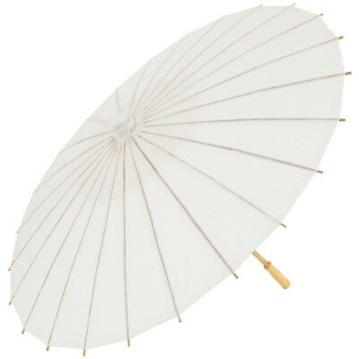 Chinese Paper and Bamboo Parasol - Wedding White
