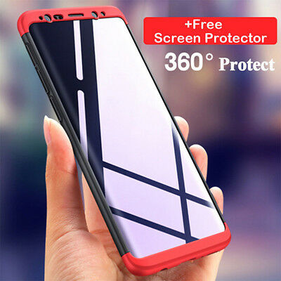 For Samsung Galaxy S9/S9 Plus Hybrid 360° Protective Case Cover+Screen Protector