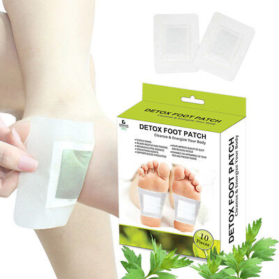 Natural Detox Foot Patches Pads Detoxify Toxins Pain Relief Body Health Care