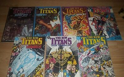 the new titans #52-58 1989 comics