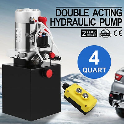 4 Quart Double Acting Hydraulic Pump Dc 12V Repair Tool Unit Pack Factory Direct