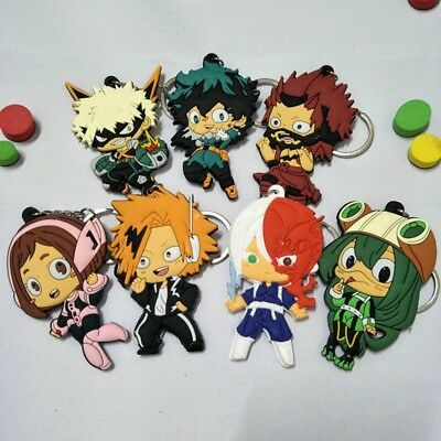 My Hero Academia Rubber Keychain Anime Boku No Hero Academia Keyring For Present
