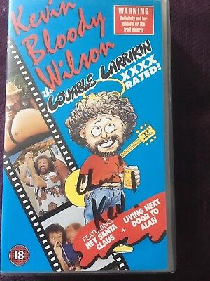 Kevin Bloody Wilson Hand Signed Genuine Autograph Rare Signed Vhs Video Cassette