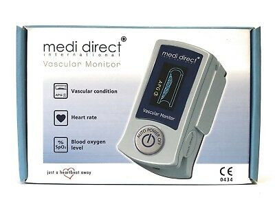 MEDI Direct Vascular Condition Heart Rate Blood Oxygen Health Check Monitor