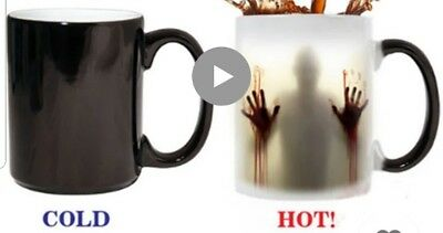 walking dead coffe mug changing hot and cold